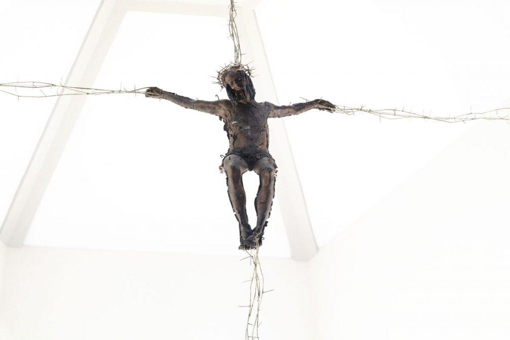 marco papa cristo croce di spine